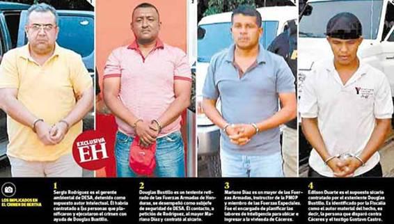 Detainees in Berta Cáceres Murder