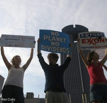 Protest at ExxonMobil Shareholders Meeting in Dallas