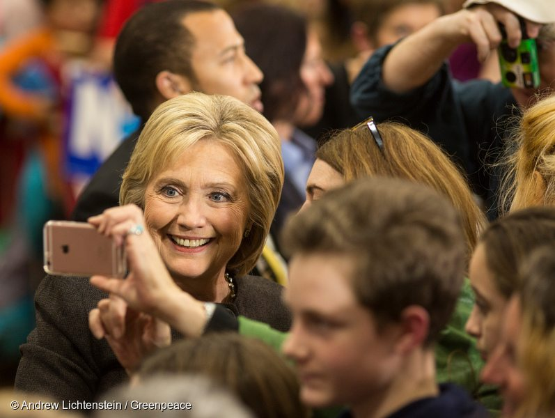Hillary Clinton Campaign Rally in the US
