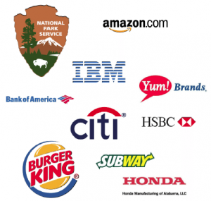 Some large clients of U.S. foodservice companies.