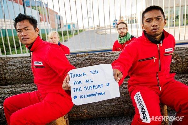 IOI Palm Oil Company Blockade in Rotterdam Harbor.
