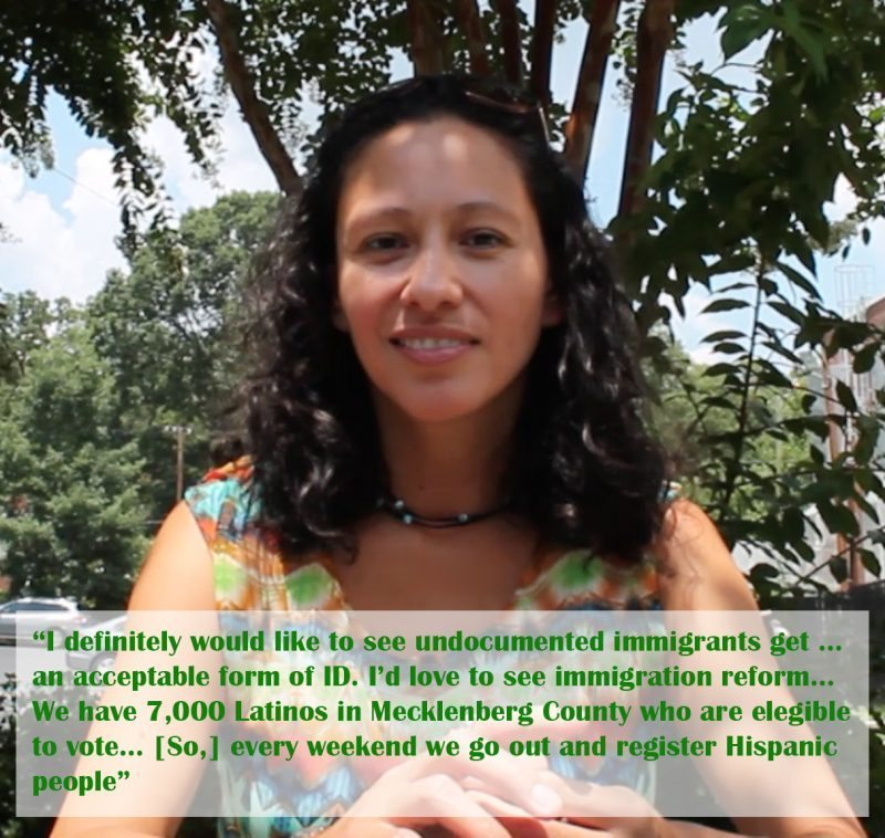 Alma Hernandez advocates for the environment, immigrants, and women's rights