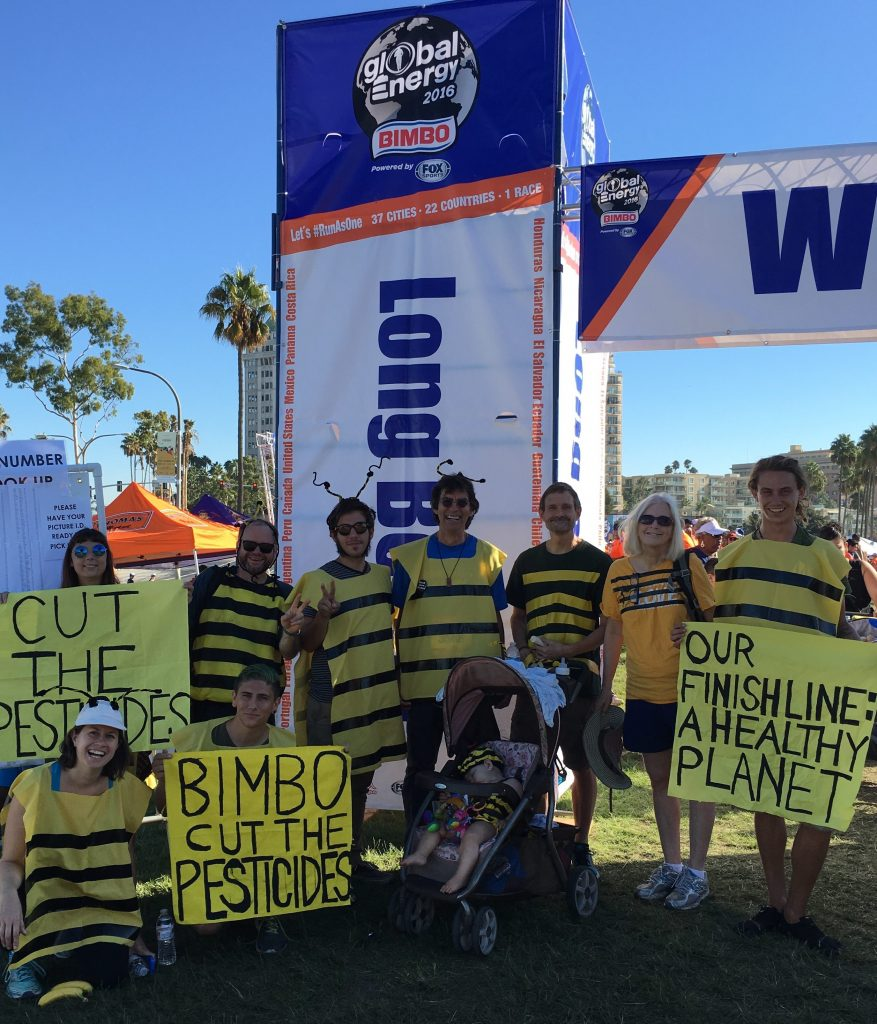 Activists in Long Beach, CA participated in Bimbo's Global Energy Race.