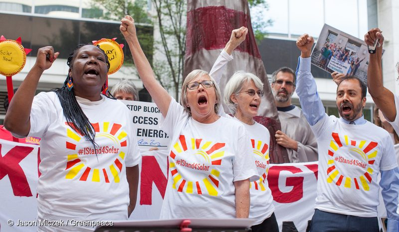 Protest at Duke Energy Annual Meeting