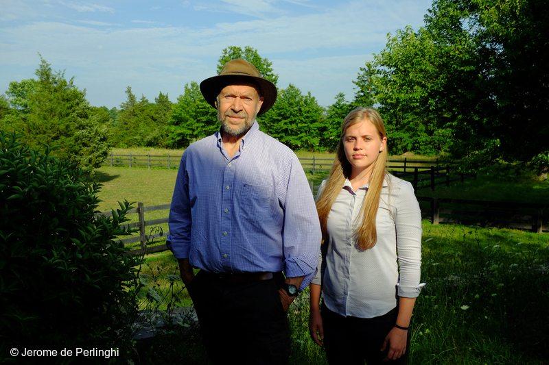 Portrait of James Hansen with grand doughter Sophie Kivlehan