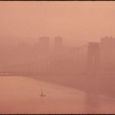 The George Washington Bridge in Heavy Smog, May 1973