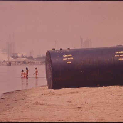 Chemical Plant Next to Charles Lake, Louisiana, June 1972