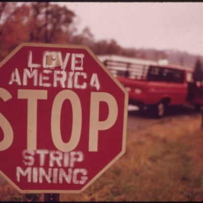 Local opposition to strip mining in Southern Ohio, October 1973