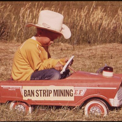 Young Rial Redding, third generation of Reddings who have ranched in Sarpy Basin, joins the resistance movement, June 1973
