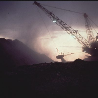 Strip Mining on Native American Burial Grounds by Peabody Coal Company, May 1972
