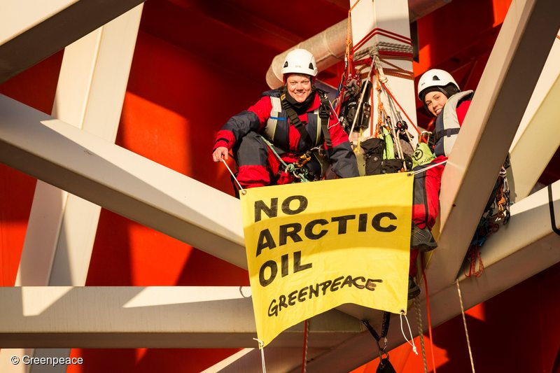 In 2014, activists from eight countries scaled and occupied Statoil contracted oil rig Transocean Spitsbergen to protest the company's plans to drill the northernmost well in the Norwegian Arctic at the Apollo Prospect of the Barents Sea. Now, Greenpeace is challenging Arctic drilling leases in Norway's supreme court.