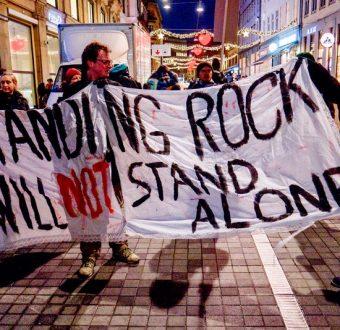 Nordea Dakota Access Protest in Copenhagen