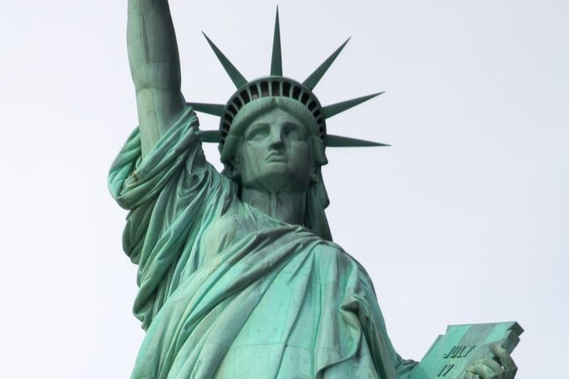 Refugees Welcome Statue of Liberty