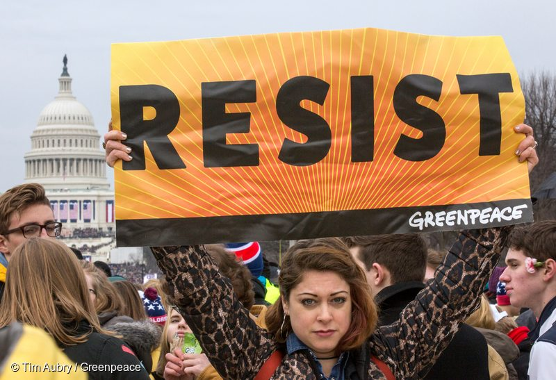 Trump Inauguration Day Resistance in Washington D.C.