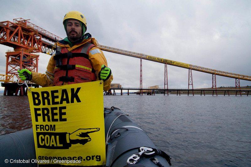Break Free Activity at Invierno Coal Mine in Chile