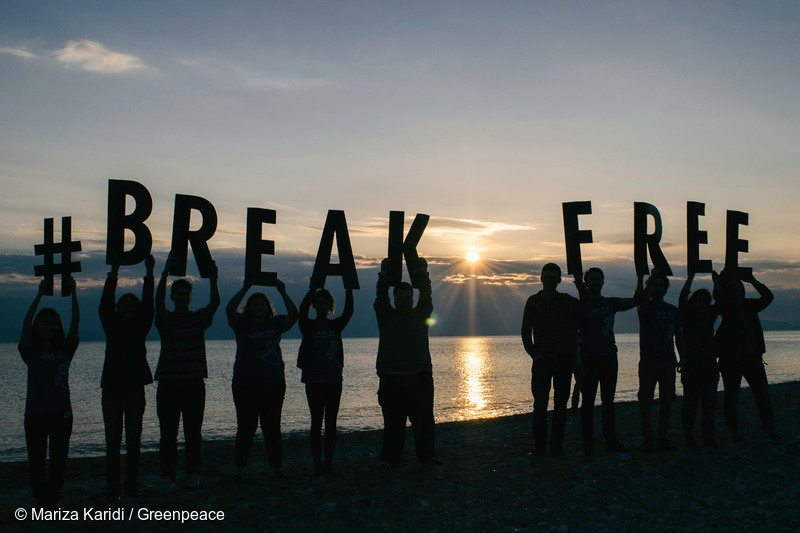 Break Free Volunteer Action in Athens