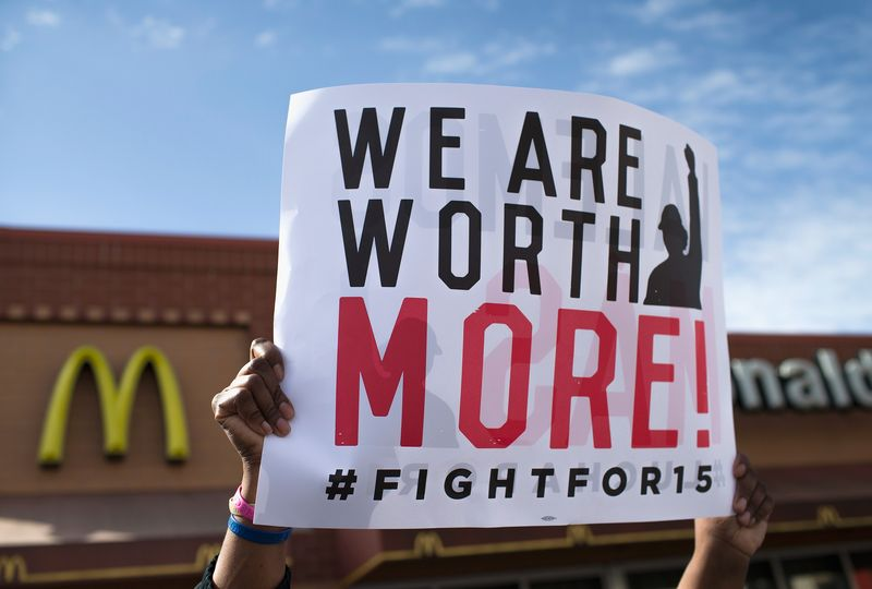 Fight for 15 Protest in Detroit, Michigan