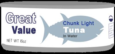 Walmart Tuna Can