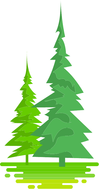Illustrated trees