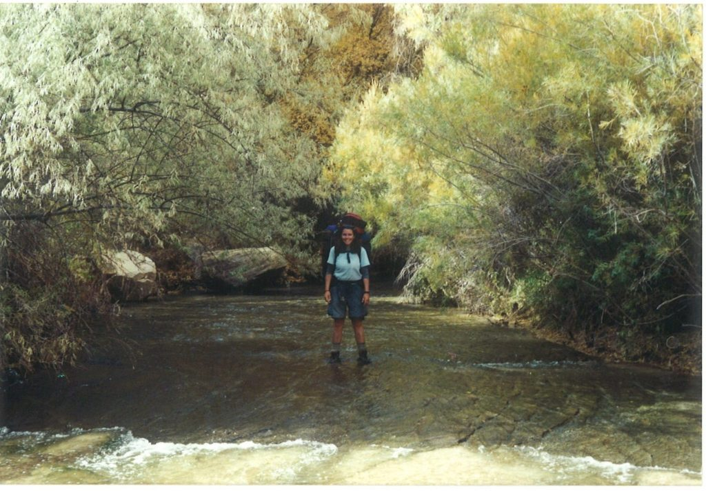 That's me hiking around Grand Staircase-Escalante National Monument in 2002.