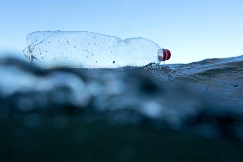 Plastic Bottle in the North Sea