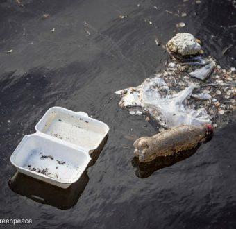 Plastic Waste in the Sea Edinburgh Scotland