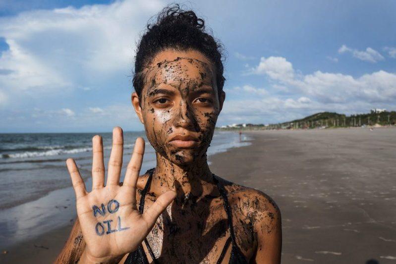 Defend the Amazon Reef Protest (Global Day of Action) in Maranhão, BrazilProtesto em defesa aos Corais da Amazônia (Dia de Ação Global) no Maranhão