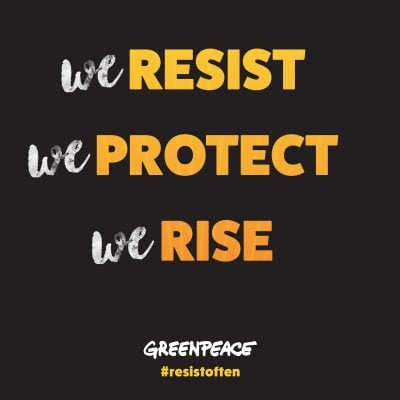 Downloadable We Resist We Protect We Rise Graphic