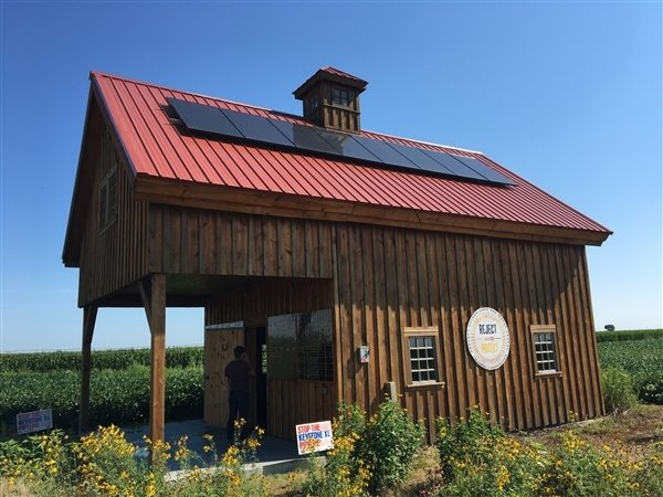 Solar Powered Barn in the Path of KXL