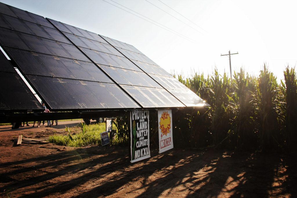 First SolarXL Site on land of Jim and Chris Carlson