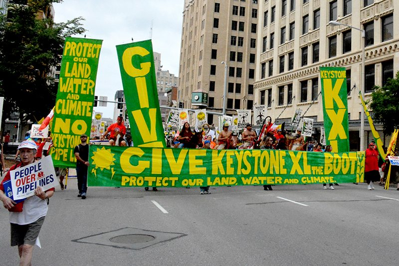 March to Give KXL the Boot in Lincoln, Nebraska. Photo by Isabelle Geczy.