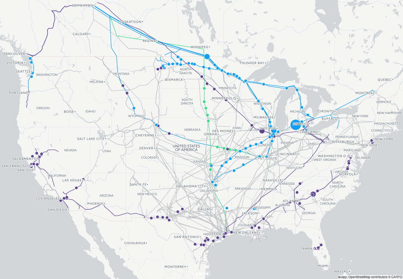 United States Pipelines Map Crude Oil Petroleum Pipelines Map Of - Map of oil spills in the us