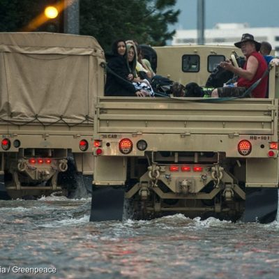 Hurricane Harvey Military Rescue in Texas