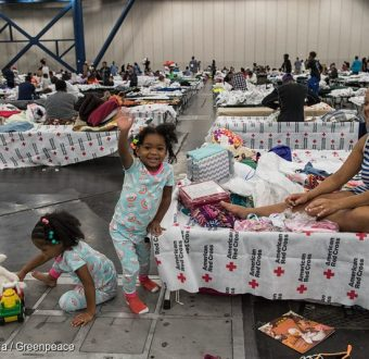Hurricane Harvey Emergency Shelter in Houston