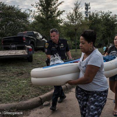 Hurricane Harvey Floods Affected People in Katy, Texas