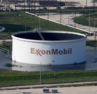Flooded Exxon Storage Tank in Texas