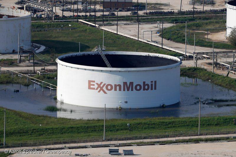 Flooded Exxon Storage Tank in Texas