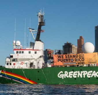 Arctic Sunrise Departs New York 2017