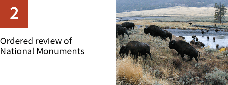 2. Ordered review of National Monuments