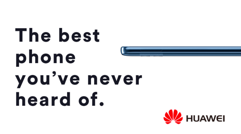 Huawei's ad for its Mate 10 Pro smartphone for U.S. market