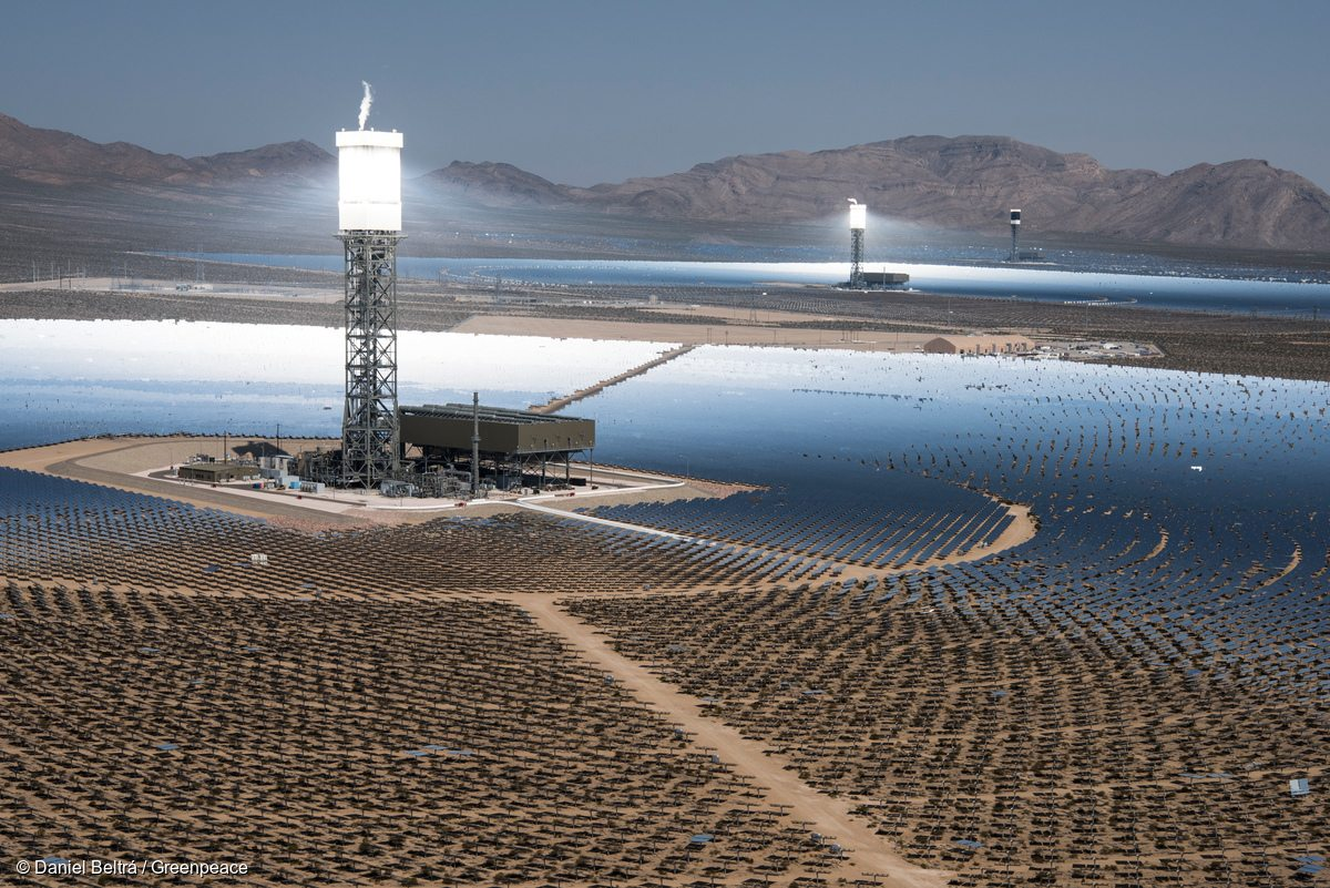 Ivanpah Solar Power Facility In California Greenpeace Usa