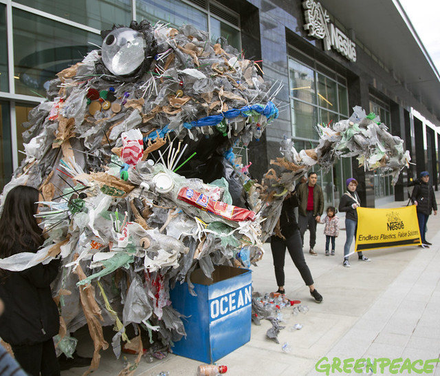 Nestlé's plastic monster spews pollution at company's U S