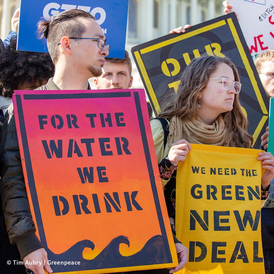 Senator's Green New Deal Press Conference in Washington DC