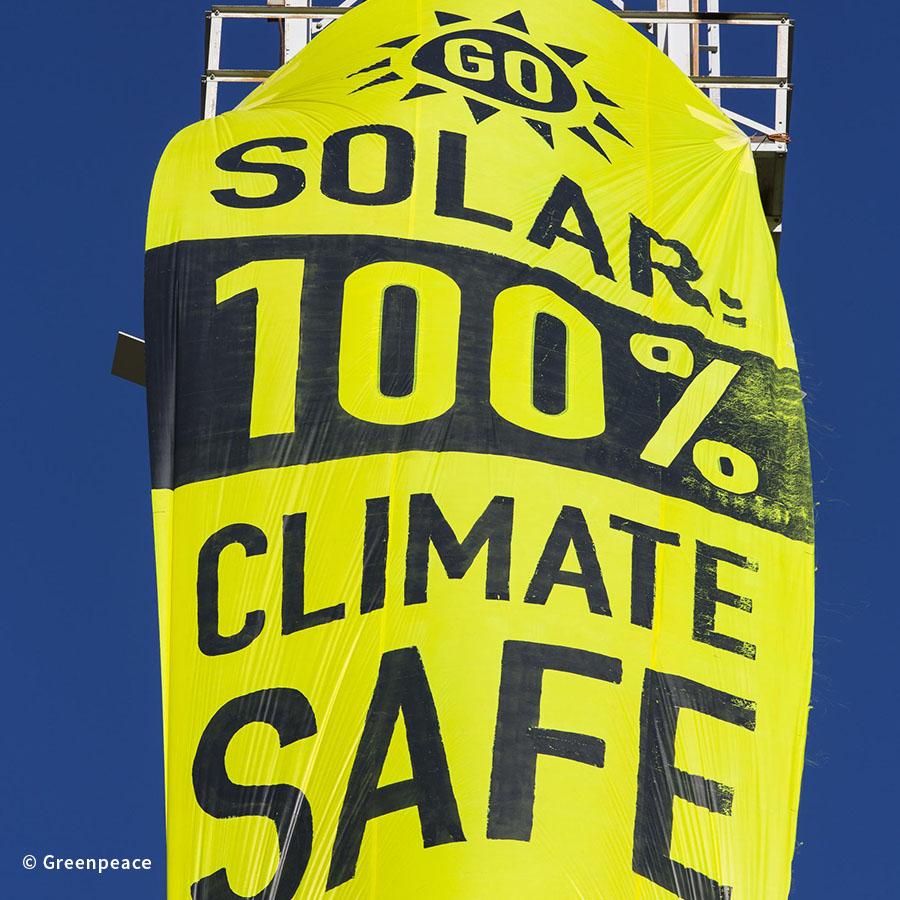 Activists Install Solar Panels on Oil Rig in Alberta