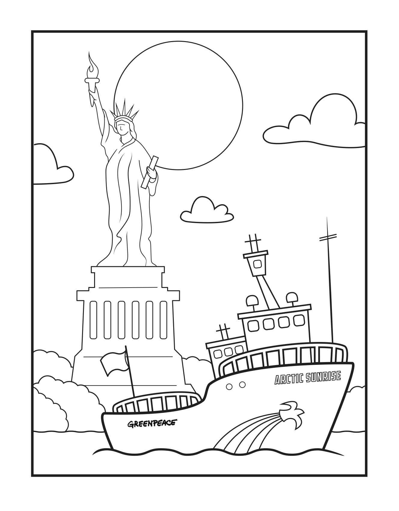 Ocean Waves Coloring Pages