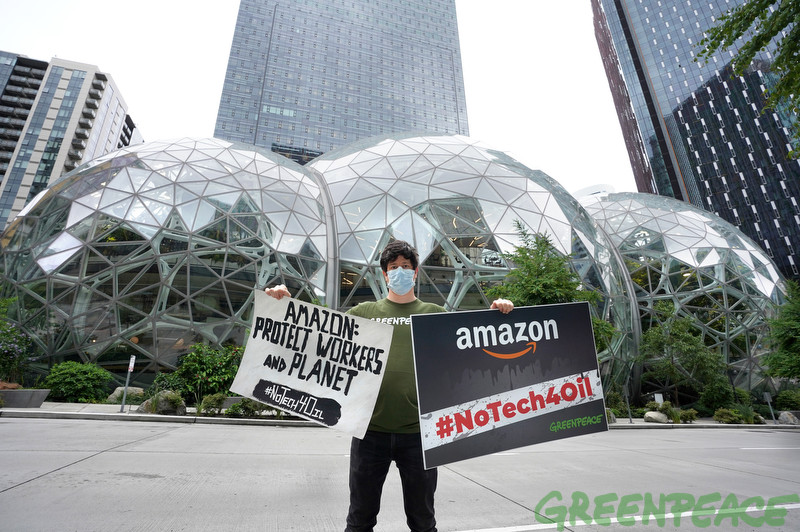 More than 65,000 supporters call on Amazon to protect people and planet.