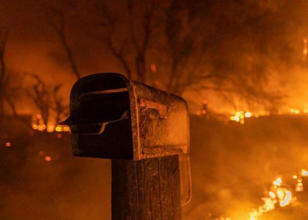 California Lake Fire Burns