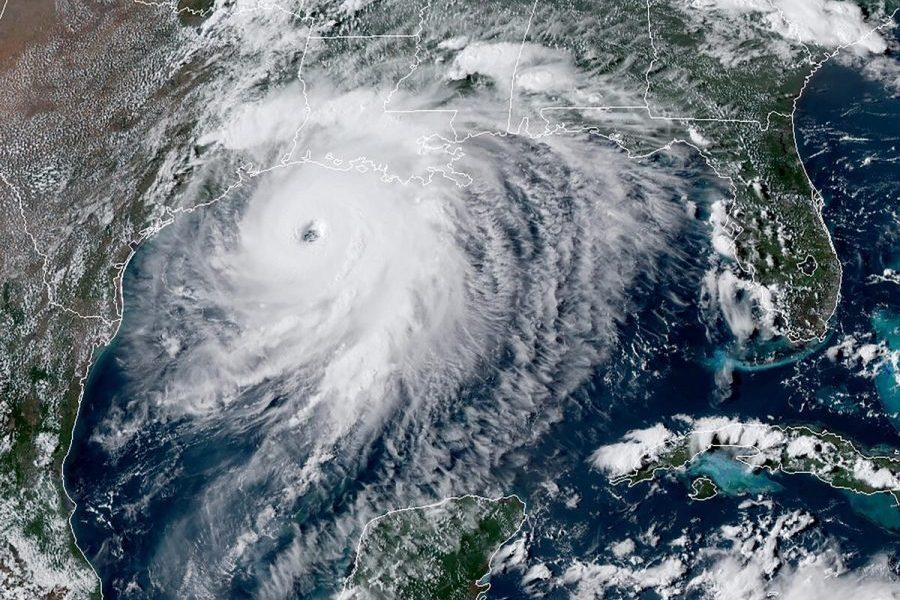 Hurricane Laura via Satellite