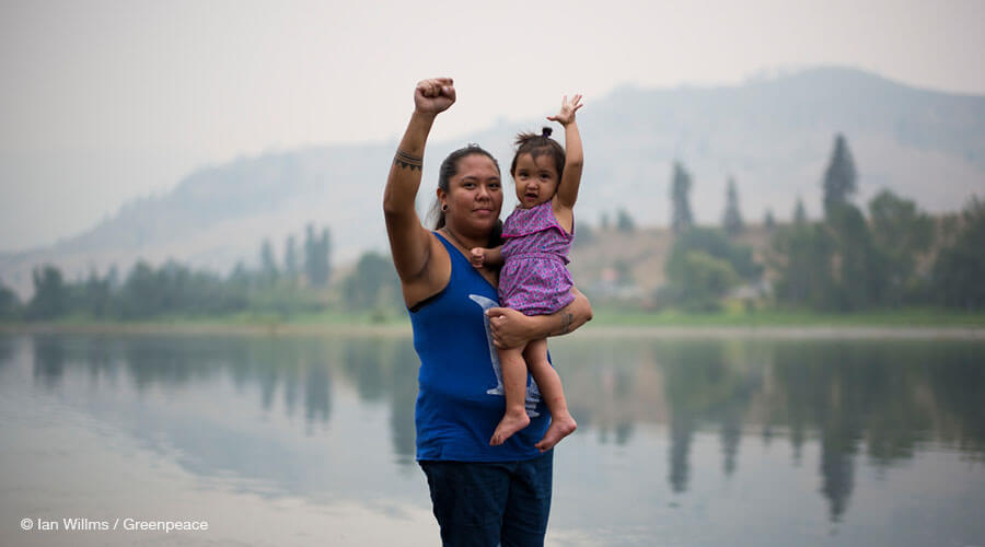 Activist from the Tiny House Warriors in Canada
