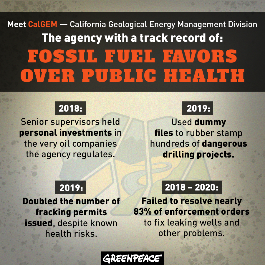 Meet CalGEM: The agency with the track record of fossil fuel favors over public health